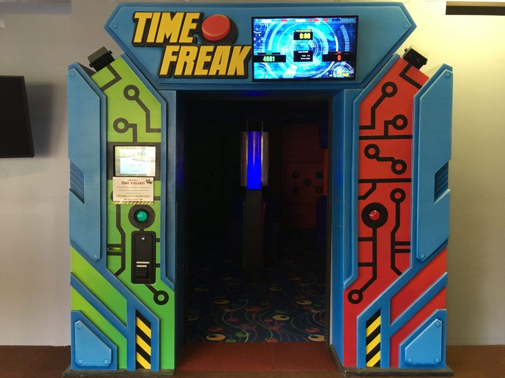 """The """"Time Freak"""" game at Cave of the Winds in Manitou Springs. (Dave Burdick/Denverite)"""