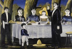 """Family feast,"" by the 19th and 20th century Russian artist Niko Pirosmani (Wikimedia/Public Domain)"