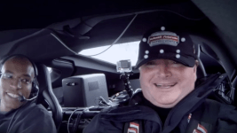 Sam Schmidt drives a Corvette with his head. (Arrow Electronics)
