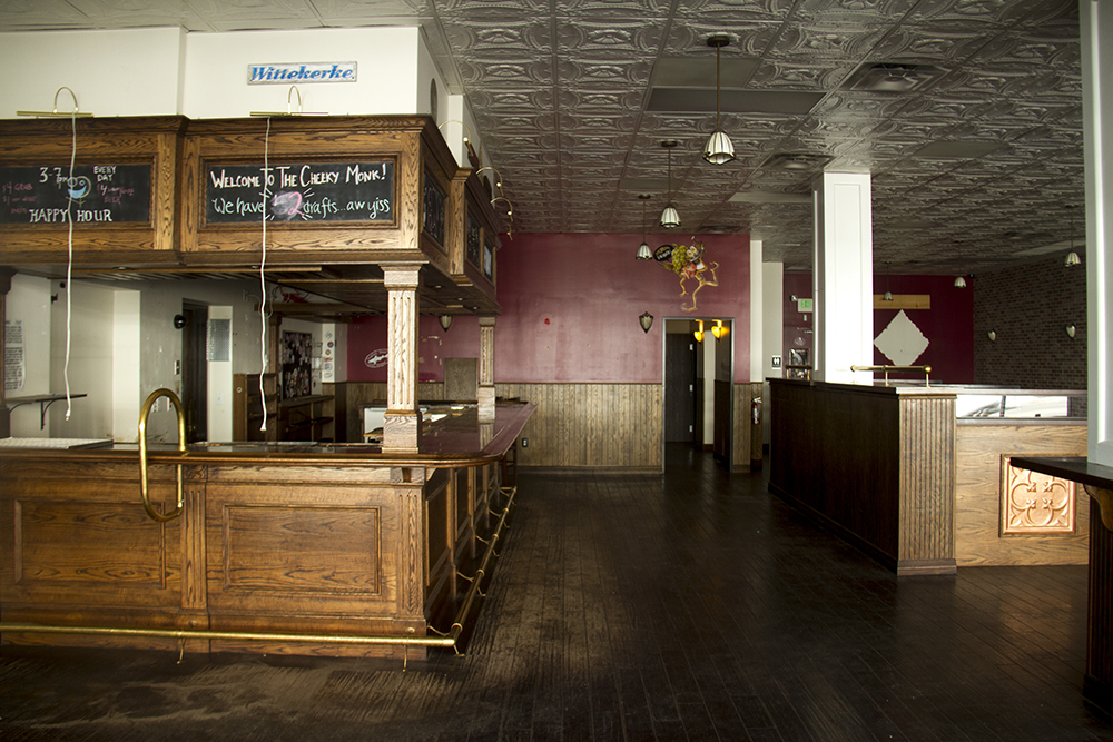 Inside the now-defunct Cheeky Monk on Colfax. (Kevin J. Beaty/Denverite)  capitol hill; cheeky monk; lost highway; colfax; commercial real estate; denver; colorado; denverite; kevinjbeaty;