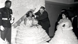 The Prom Queen is crowned during Manual High School's 1961 prom. (Burnis McCloud/Denver Public Library/Western History Collection/WH1128)  five points; historic; denver public library; dpl; archive; archival; denverite