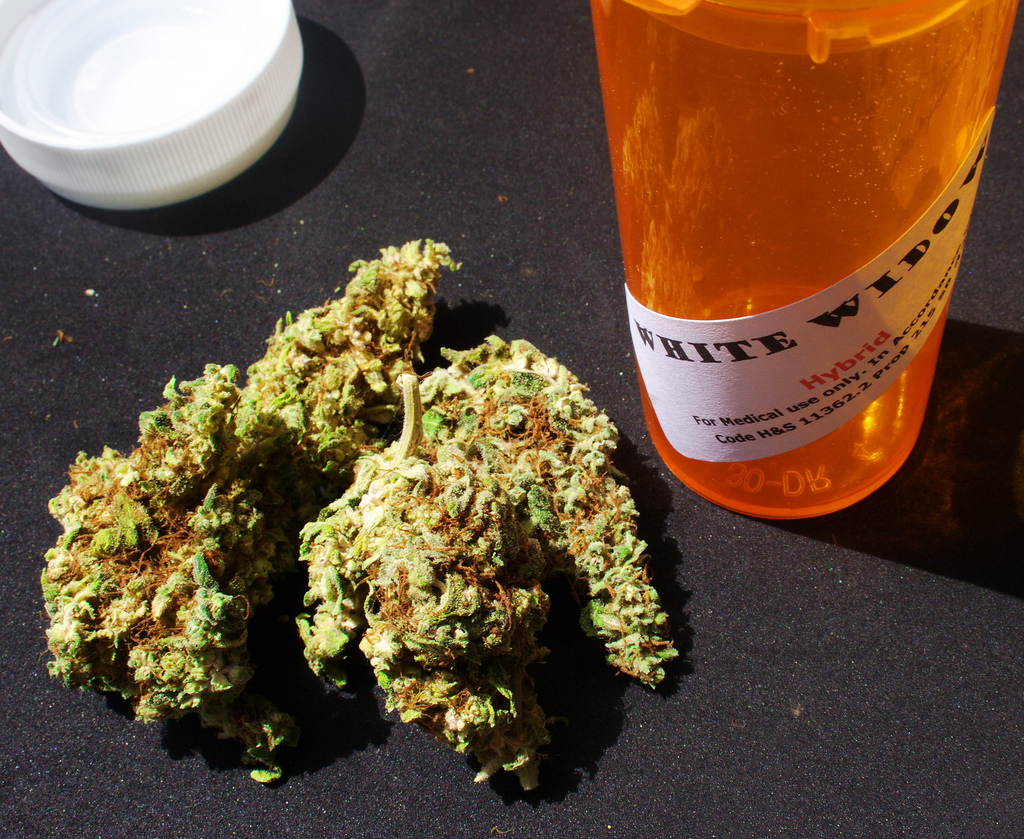 Marijuana must be sold in a childproof container, like above. (Mark/Flickr)