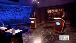Glenn Bennet 9News debate screenshot