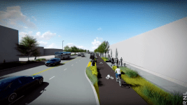 A rendering of a remade Brighton Boulevard. (RNL/City of Denver)