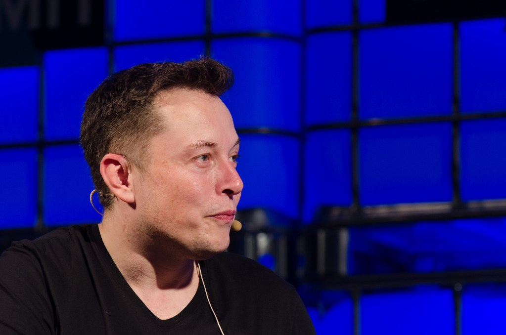 Space X CEO Elon Musk during a 2013 interview. (Web Summit/Flickr)
