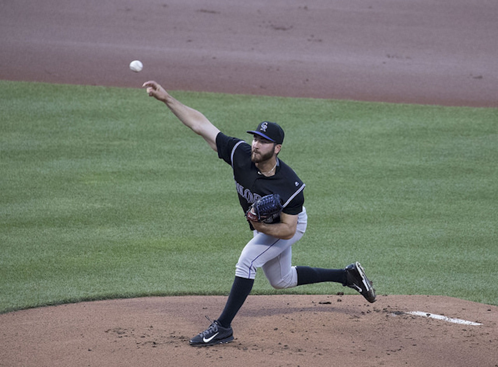 Chad Bettis was recently diagnosed with testicular cancer. He said he expects to make a full recovery. (Keith Allison/Flickr)