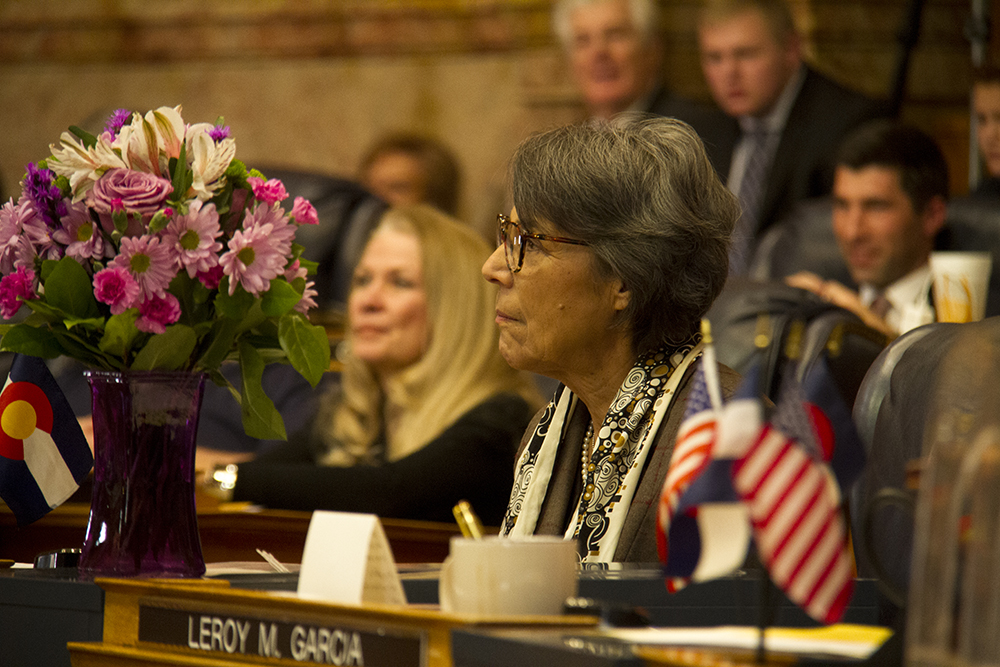 District 34 Senator Lucía Guzmán. The first day of the Colorado state legislative session. Jan 11, 2017. (Kevin J. Beaty/Denverite)  legislature; copolitics; politics; legislative session; capitol; kevinjbeaty; denver; denverite; colorado;