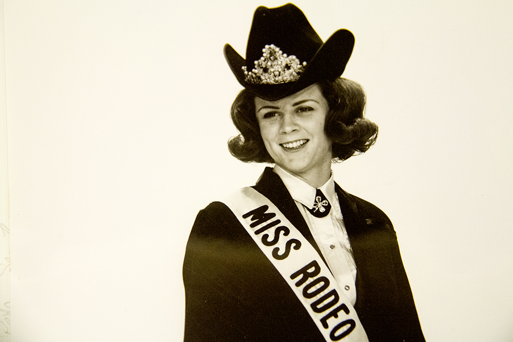 Ms. Rodeo America, crowned at the National Western Stock Show circa 1967. (Lumir Photography/Denver Public Library/Western History Collection/Denver Metro Chamber of Commerce Records)  denver; denverite; denver public library; western history collection; archive; archival; National Western Stock Show; nwss;