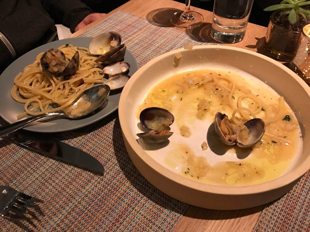 Semi-demolished linguine with littleneck clams at 12@Madison, 1160 Madison St. (Ashley Dean/Denverite)