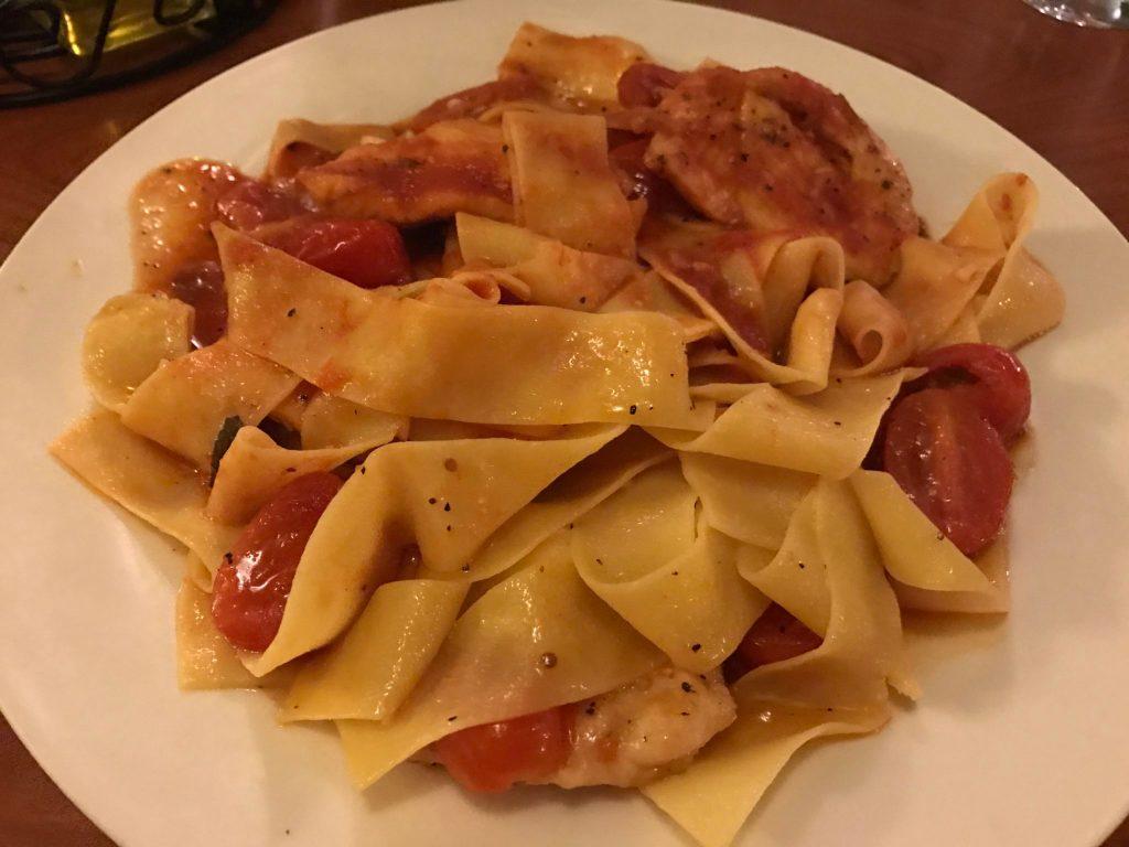 Pollo al pomodoro at Café Jordano, 11068 W. Jewell Ave., Lakewood. (Ashley Dean/Denverite)
