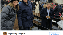 John Elway at Donald Trump's inauguration, as captured by Twitter.