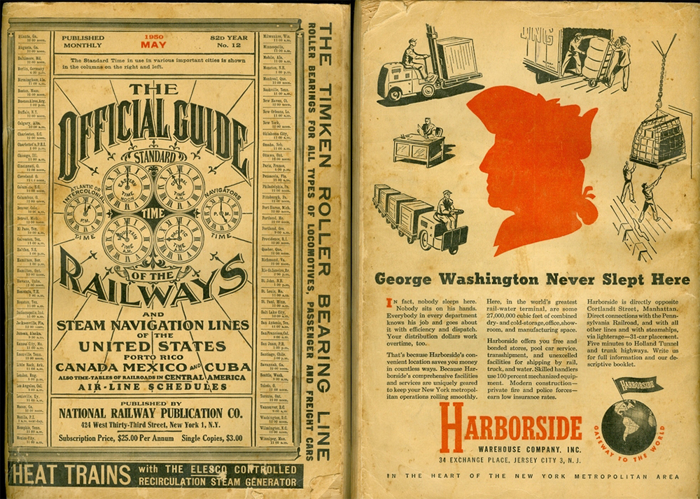 The Official Guide of the Railways, 1950. (Courtesy Colorado Railroad Museum)