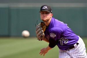 Kyle Freeland is in the running to earn a spot in the Rockies' opening day starting pitching rotation. (Matt Kartozian/USA Today Sports)
