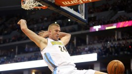 Injuries have forced Nikola Jokic and Mason Plumlee to start in the frontcourt together. (Chris Humphreys/USA Today Sports)