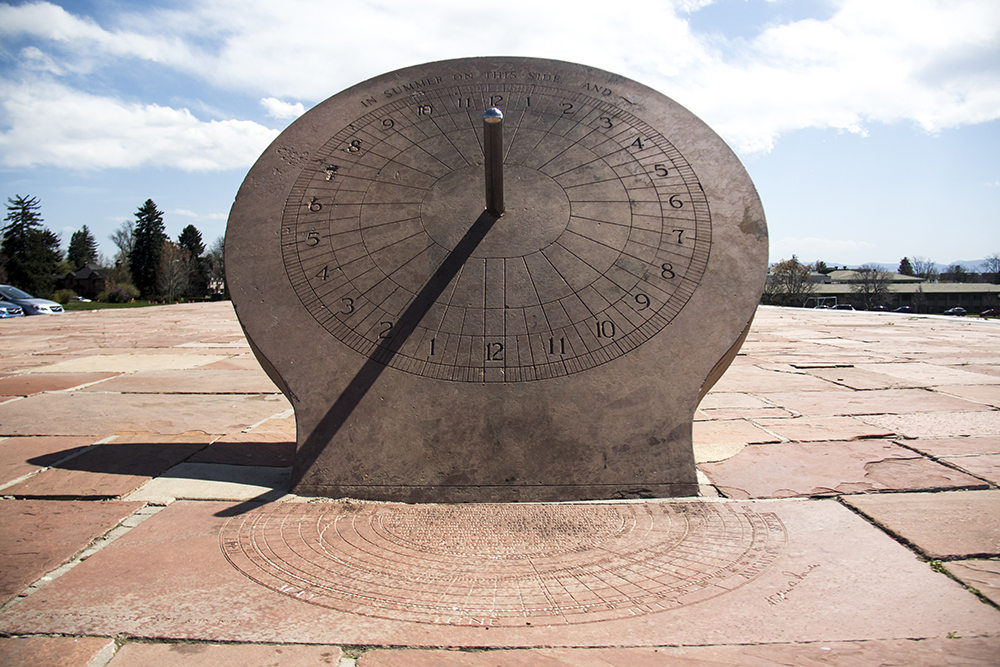The sundial at Cranmer Park. (Kevin J. Beaty/Denverite)