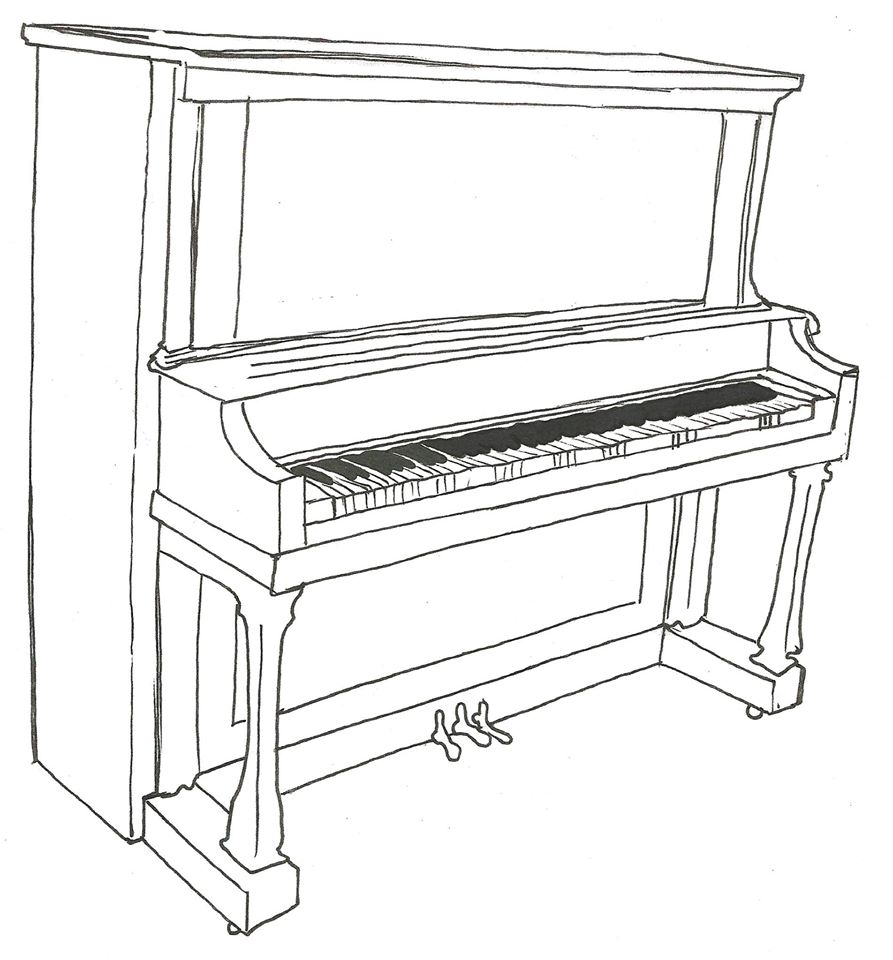 A template for a 16th Street Mall piano. (Downtown Denver Partnership)