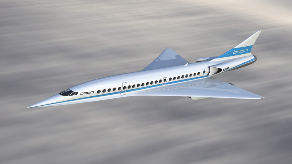 Boom Technology prototype of a supersonic jet. (Courtesy Boom Technology)