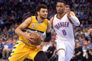 Jamal Murray and the Nuggets won their season finale. (Mark D. Smith/USA Today Sports)