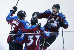 Erik Johnson scored the winner for Colorado in OT. (Chris Humphreys/USA Today Sports)