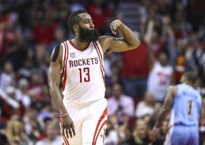 James Harden led the Rockets to a win over the Nuggets on Wednesday, Houston's fourth victory against Denver this season. (Troy Taormina/USA Today Sports)