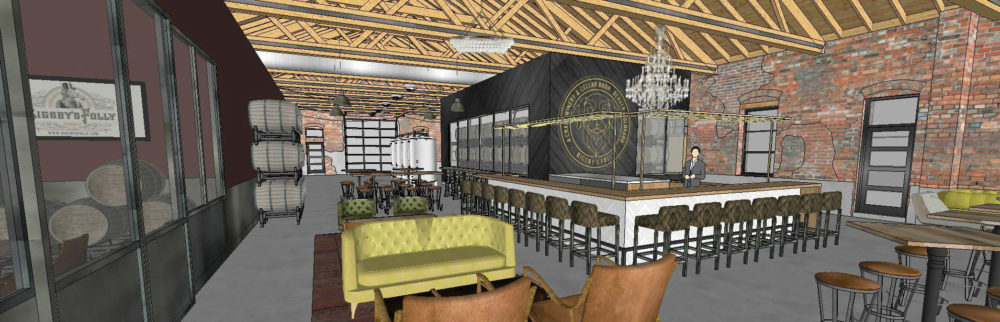 A rendering of the interior of Bigsby's Folly winery at 3563 Wazee St. (Courtesy of Bigsby's Folly)