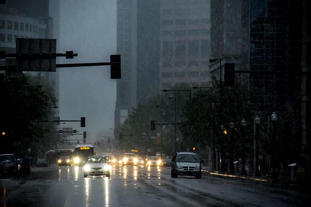 A late spring snowstorm on May 18, 2017. (Kevin J. Beaty/Denverite)  snow; weather; cowx; kevinjbeaty; denver; denverite; colorado; wintery mix;