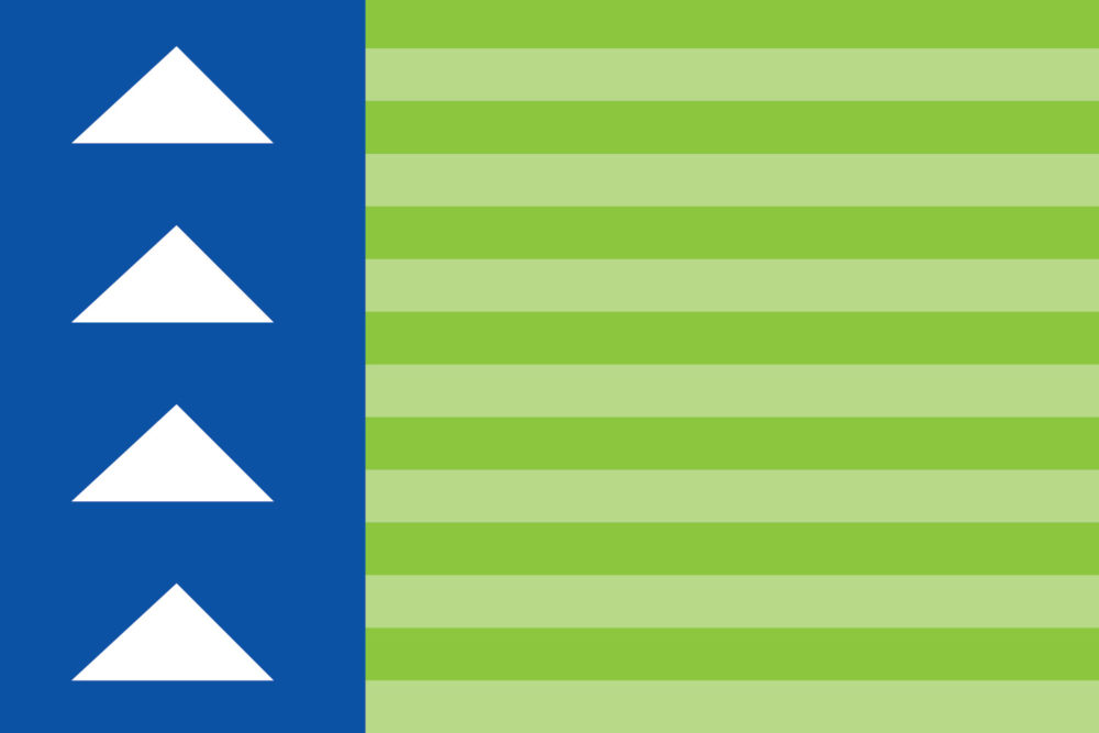 A concept for a Berkeley neighborhood  flag. (Steven Chester/FlagsofDenver.com)