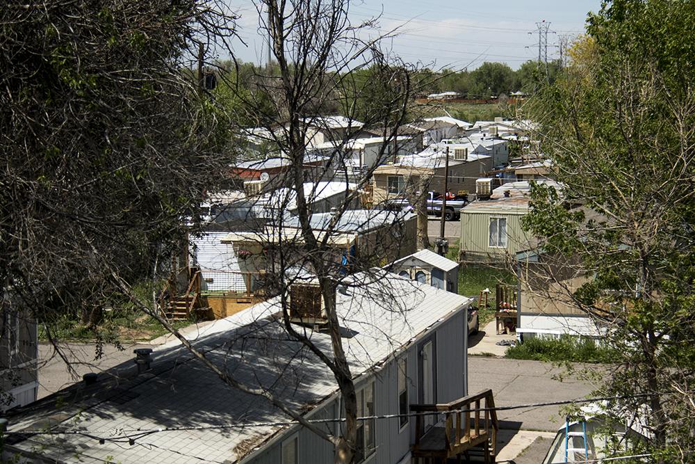Denver Meadows RV Park, May 15, 2017. (Kevin J. Beaty/Denverite)  aurora; denver meadows; mobile home park; kevinjbeaty; denverite; colorado