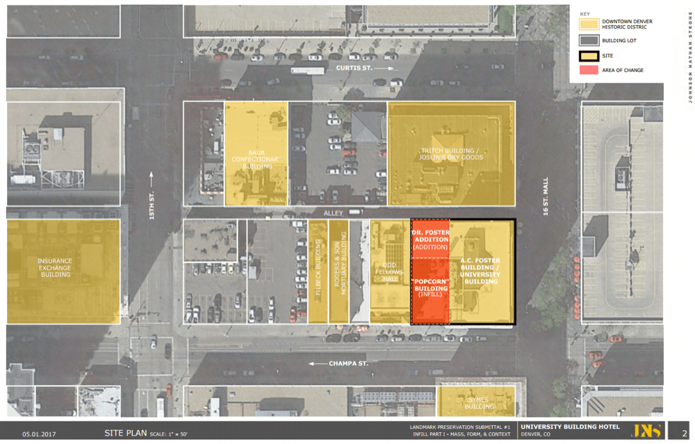 The layout of the 910 16th St. project. (City of Denver)