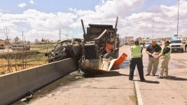 The scene of a May 25 crash north of Interstate 70 on Interstate 25. One fatality was initially reported. (Denver Police Department)