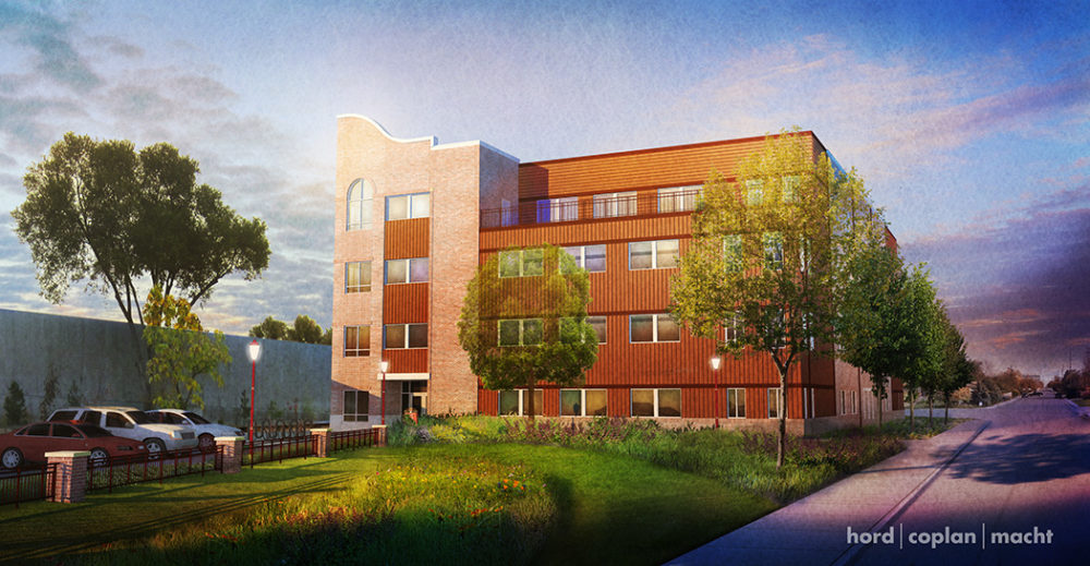 A rendering of the administrative building the University of Denver is building at 2601 E. Colorado Ave. (Courtesy of the University of Denver)