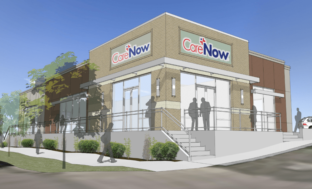 A rendering of the HealthONE urgent care center planned at 1405 E. Evans Ave. (Courtesy of HealthONE)