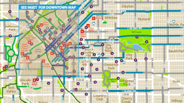 A section of the 2017 Denver Bike Map. (City of Denver)