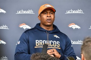 "Vance Joseph said it would be ""ideal"" to identify a starting quarterback prior to the Broncos' third preseason game. (Ron Chenoy/USA Today Sports)"