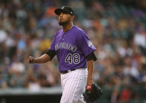 German Marquez went 6 2/3 innings Monday as the Rockies beat the Padres. (Chris Humphreys/USA Today Sports)