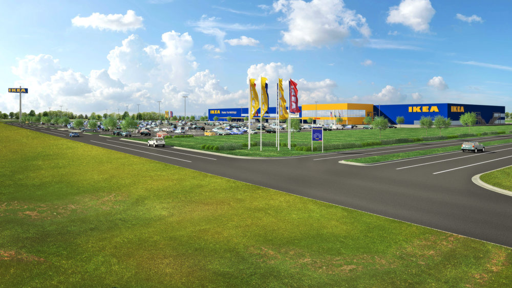 A rendering of the Ikea store slated to open in Broomfield in 2019. (Courtesy of Ikea)