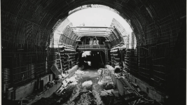 The Eisenhower Tunnel under construction. (John Gordon/Western History & Genealogy Dept./Denver Public Library)