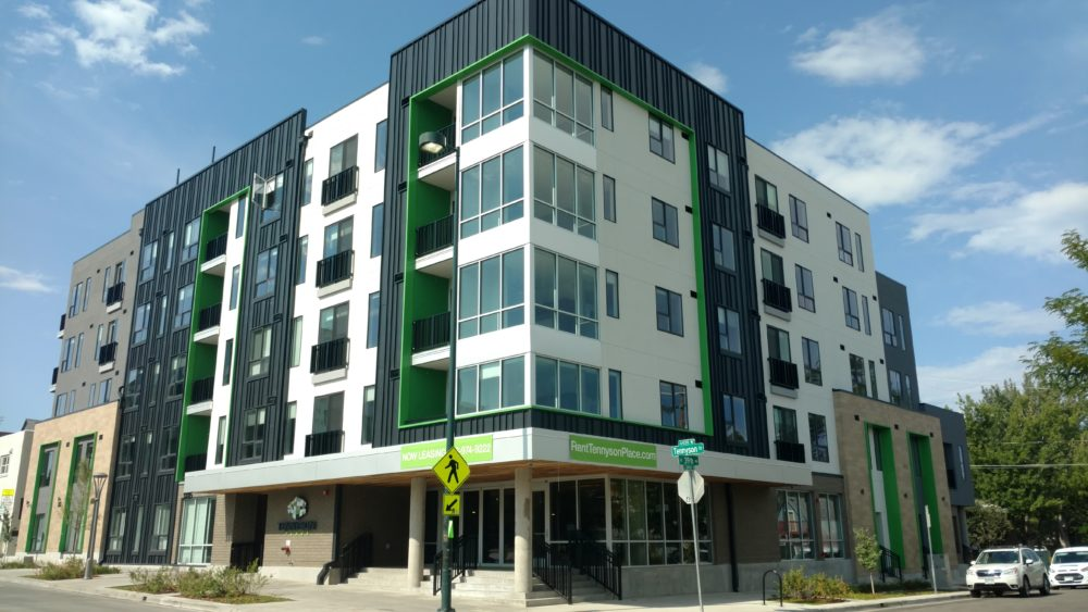 The exterior of Tennyson Place. (Courtesy of Vertix Builders)