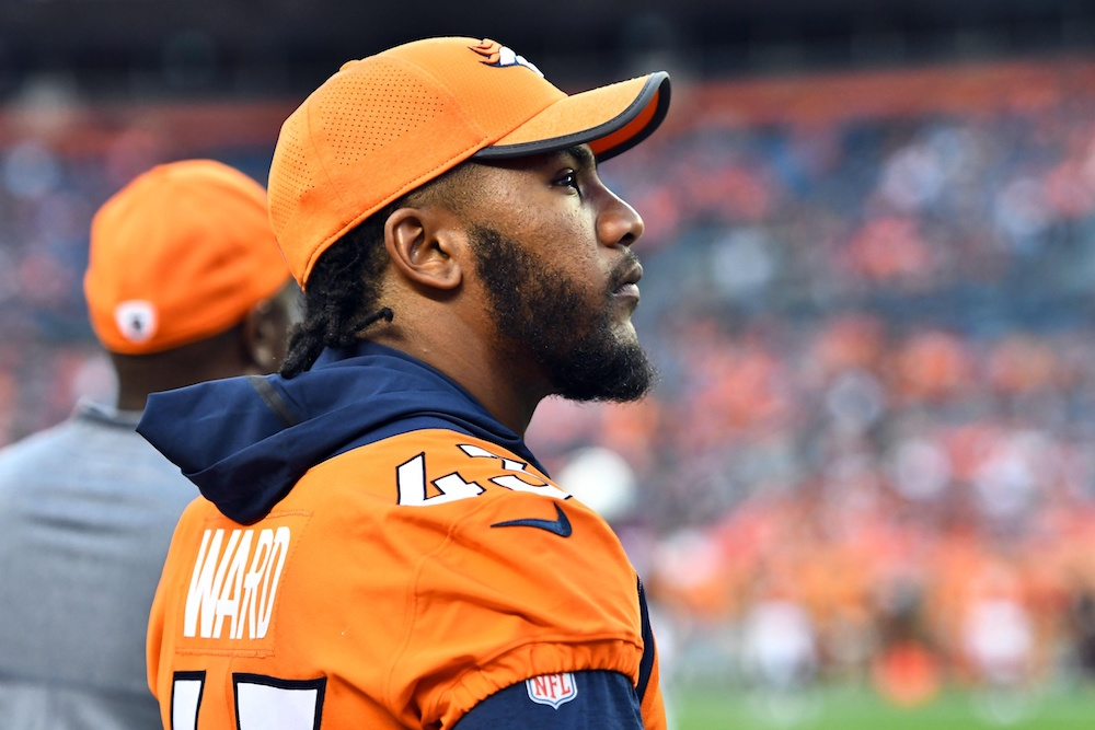 T.J. Ward will find out soon if he survives the last round of cuts. (Ron Chenoy/USA Today Sports)