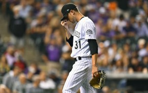 Kyle Freeland took the loss Wednesday night. (Ron Chenoy/USA Today Sports)