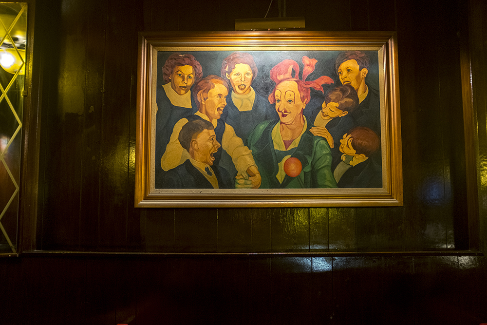 A painting by the owner of Nob Hill from when he was a young man. (Kevin J. Beaty/Denverite)  denver; colorado; denverite; kevinjbeaty; bars; nightlife; east colfax; capitol hill;