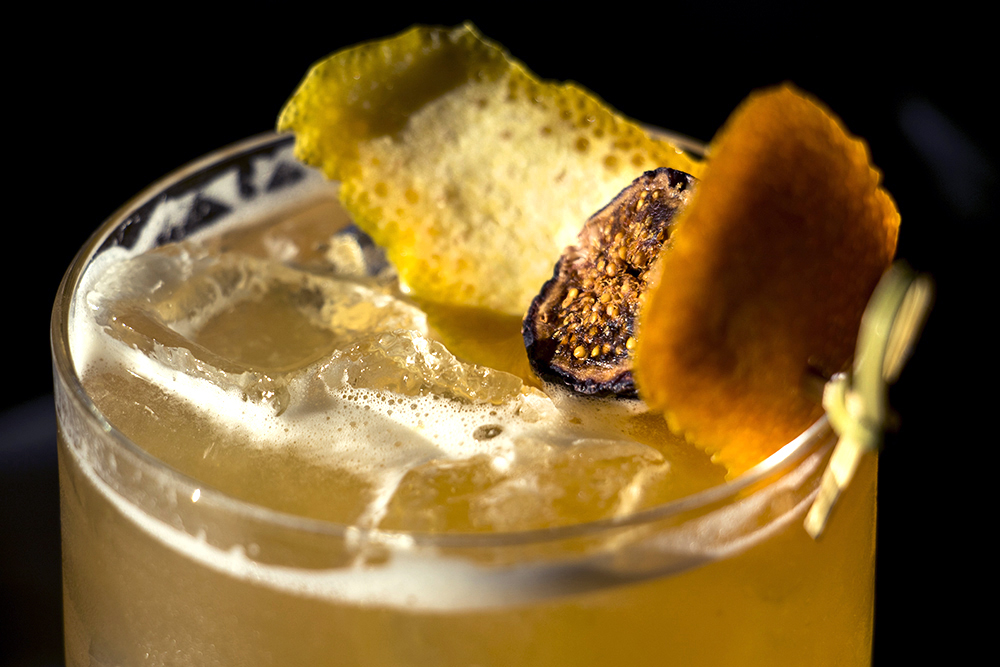 """""""Fresh to Death,"""" a take on an Old Fashioned served up inside Bar Helix, Oct. 24, 2017. (Kevin J. Beaty/Denverite)  denver; colorado; denverite; kevinjbeaty; food; bars; nightlife; rino; five points;"""