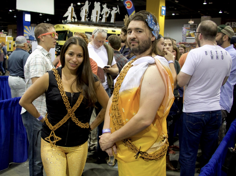 Andrea and Nick of Denver at the Great American Beer Festival on Thursday, Oct. 5, 2017. (Adrian D. Garcia/Denverite)