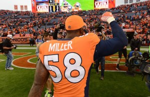 Rep the Squad allows customers to rent sports jerseys similar to the one Von Miller is rocking above. (Ron Chenoy/USA Today Sports)