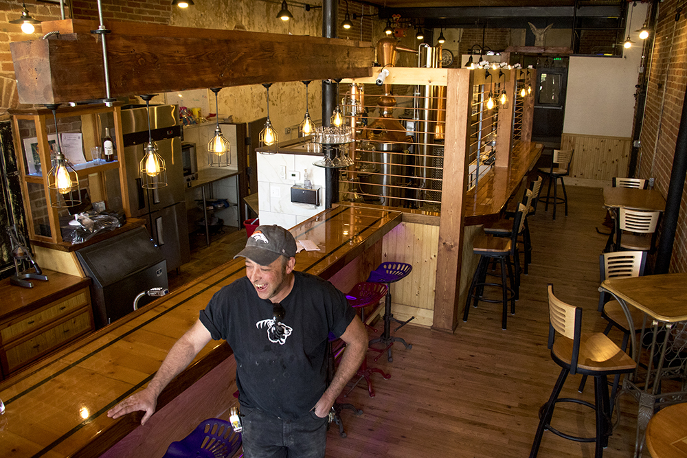 Head distiller Chad Peters in the yet-opened Denver Distillery on South Broadway, Nov. 2, 2017. (Kevin J. Beaty/Denverite)  denver; colorado; denverite; denver distillery; south broadway; food; nightlife; alcohol; craft