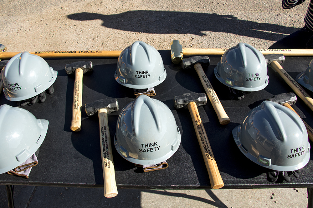 Groundbreaking for the National Western Center at the old International Paper building in Elyria Swansea, Nov. 3, 2017. (Kevin J. Beaty/Denverite)  denver; colorado; denverite; kevinjbeaty; national western center; development; elyria swansea; construction;