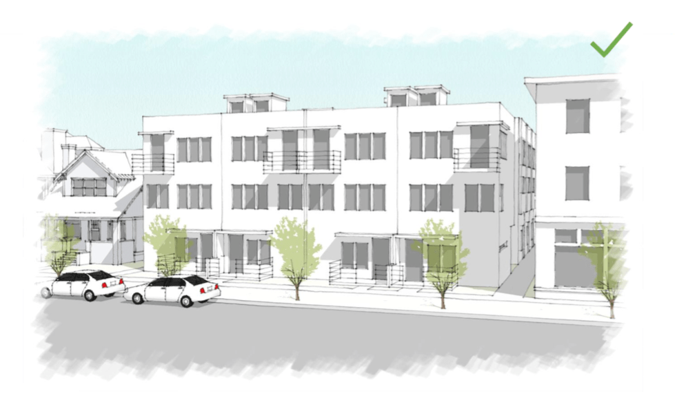"An illustration of the ""urban townhouse"" that the city could encourage with new zoning rules. (City and County of Denver)"