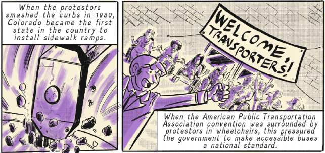 """A panel of """"We Will Ride,"""" an issue of Colorful History written by Matthew K. Manning and illustrated by Zak Kinsella for Pop Culture Classroom. (Courtesy Pop Culture Classroom)"""
