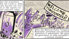 "A panel of ""We Will Ride,"" an issue of Colorful History written by Matthew K. Manning and illustrated by Zak Kinsella for Pop Culture Classroom. (Courtesy Pop Culture Classroom)"
