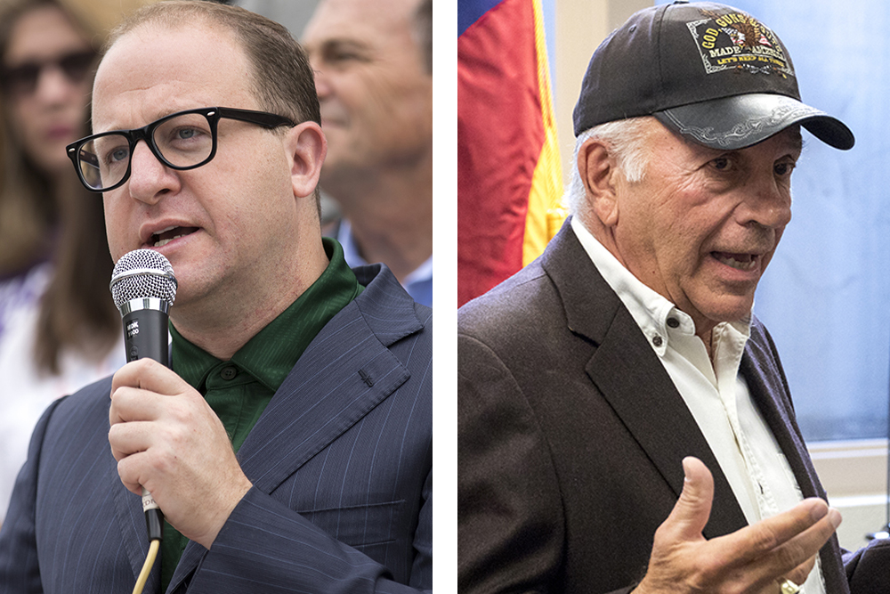 [M] Current U.S. Rep. Jared Polis and former U.S. Rep. Tom Tancredo — two candidates in Colorado's 2018 gubernatorial race. (Kevin J. Beaty/Denverite and Sara Hertwig for Denverite)   tom tancredo; election; denver; colorado; denverite; kevinjbeaty; copolitics;